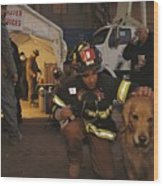September 11th Rescue Workers Receive Wood Print
