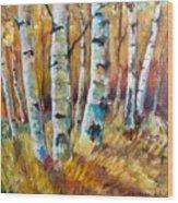 September Aspen Wood Print