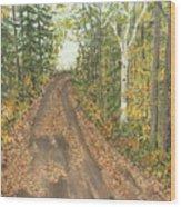 September Wood Print