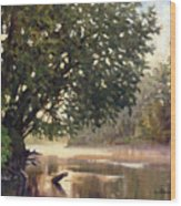 September Dawn Little Sioux River - Plein Air Wood Print