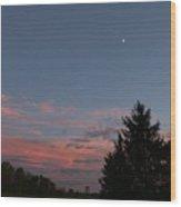 September Evening Wood Print