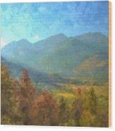 September In The Rockies Wood Print