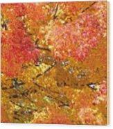 September Leaves Wood Print