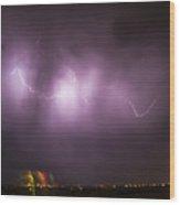 September Nebraska Storm Cells 022 Wood Print
