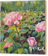 September Roses Wood Print