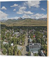 September Skies Over Crested Butte Wood Print