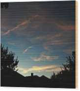 September Sky  Wood Print