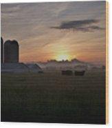 September Sunrise Wood Print