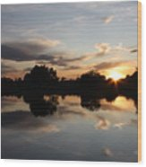 September Sunset In Prosser Wood Print