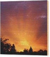 September Sunset Wood Print