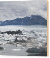 September's Knik Glacier Wood Print