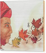 Seqouyahs Gift To The Cherokee Wood Print