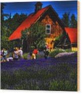 Sequim Lavender Wood Print