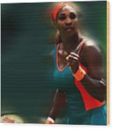 Serena Getting It Done Wood Print