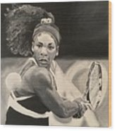 Serena Williams Wood Print