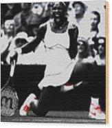 Serena Williams Victory Wood Print by Brian Reaves