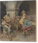 Serenade In The Tavern Wood Print