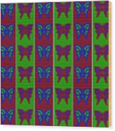 Serendipity Butterflies Blueredgreen 14of15 Wood Print