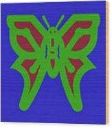 Serendipity Butterflies Blueredgreen 6of15 Wood Print