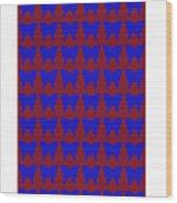 Serendipity Butterflies Brickgoldblue 15  Wood Print