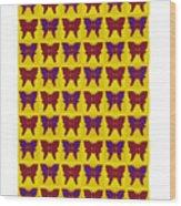Serendipity Butterflies Brickgoldblue 26 Wood Print
