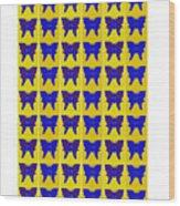Serendipity Butterflies Brickgoldblue 27 Wood Print