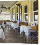 Serendipity Restaurant St Kitts Wood Print