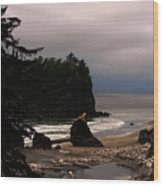 Serene And Pure - Ruby Beach - Olympic Peninsula Wa Wood Print