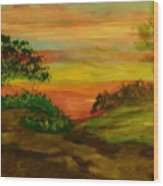 Serene Hillside I Wood Print by Marie Bulger