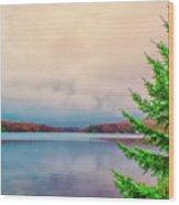 Serene Lake Harmony Wood Print