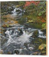 Serene Mountain Stream Wood Print