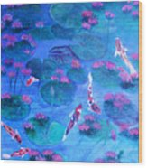 Serene Pond Wood Print