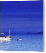 Serene Seas Wood Print