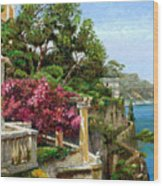 Serene Sorrento Wood Print by Trevor Neal