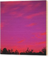 Serene Sunrise Wood Print