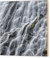 Serene Waterfall Wood Print