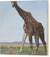 Serengeti Longneck Wood Print