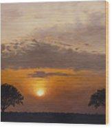 Serengeti Sunset Wood Print