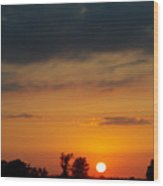 Serengeti Sunset Wood Print