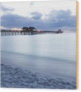 Serenity At Naples Pier Wood Print