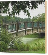 Serenity Bridge Wood Print