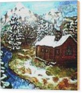 Serenity Cabin Wood Print
