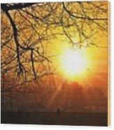 Serenity Dawns Wood Print