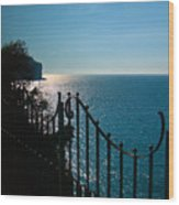 Serenity In The Bay Of Naples Wood Print