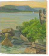 Serenity On The Hudson Wood Print
