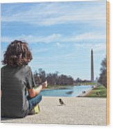 Serenity On The National Mall Wood Print
