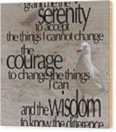 Serenity Prayer 01 Wood Print