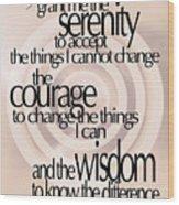 Serenity Prayer 06 Wood Print