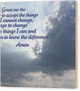 Serenity Prayer Wood Print