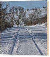 Serenity Road Wood Print